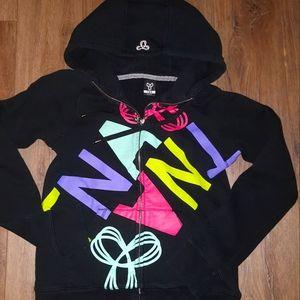 TNA Artizia Hoodie black with bright Logos, size M